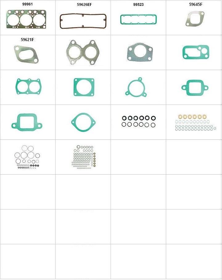 Componentes do conjunto  - Sem anéis de camisa
