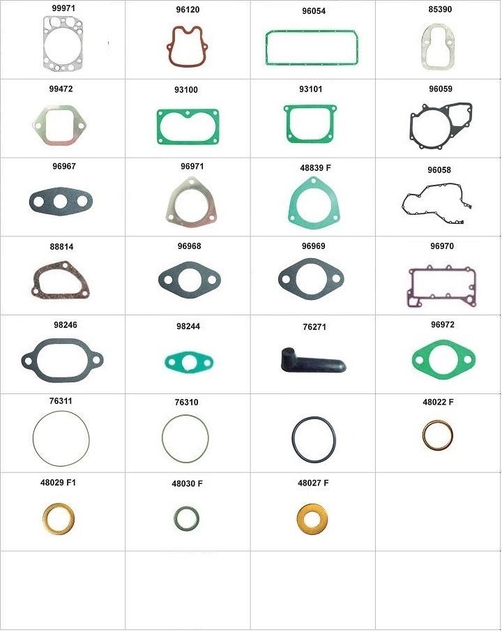 Componentes do conjunto  - Com anéis de camisa