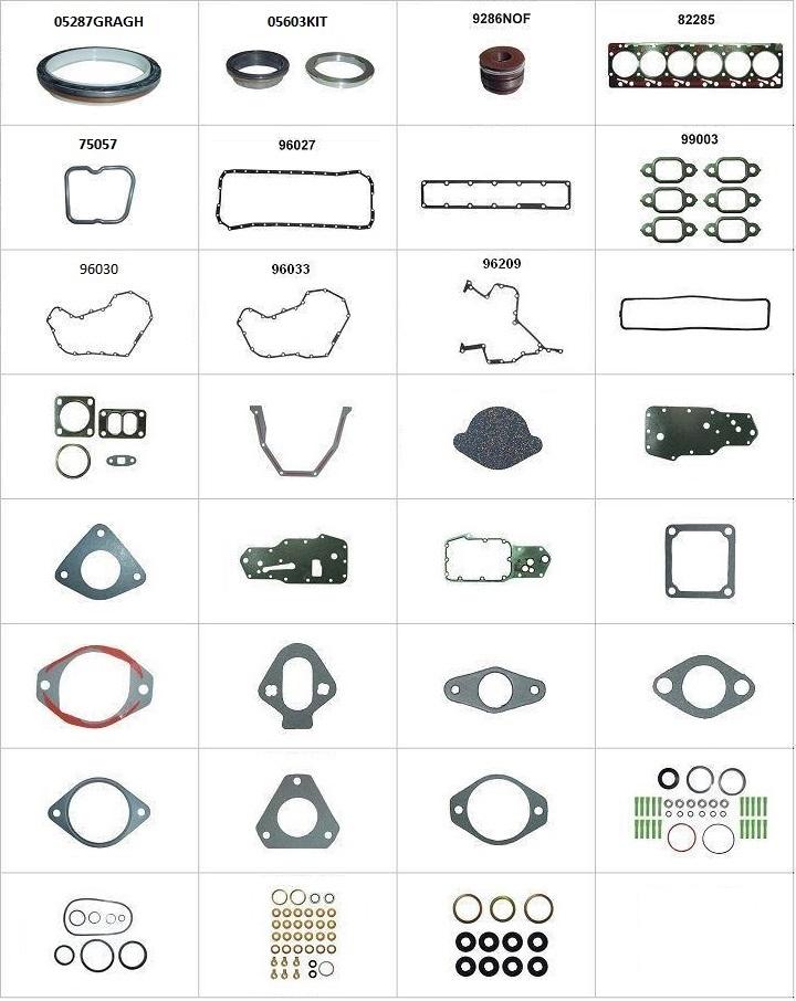 Componentes do conjunto  - Retentor Traseiro Std / Dianteiro Sob Medida